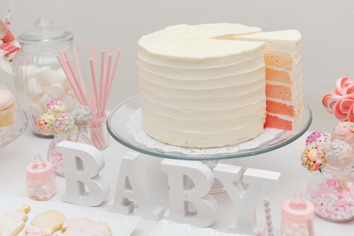 READY TO POP|グラデーションケーキ|ベビーシャワー事例写真|ARCH DAYS
