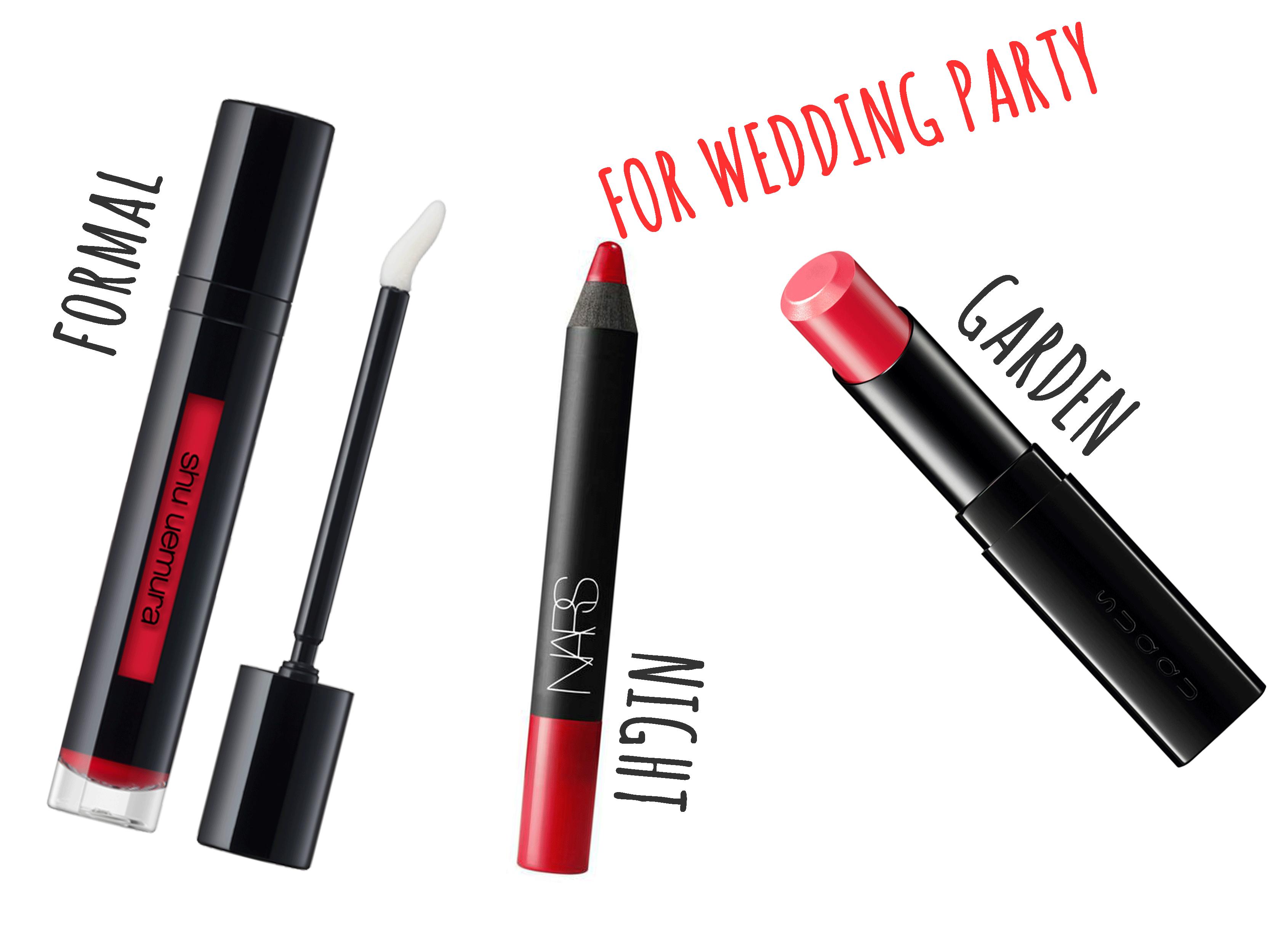 結婚式・パーティーシーン別に唇もドレスアップ!おしゃれで落ちない、おすすめリップ特集