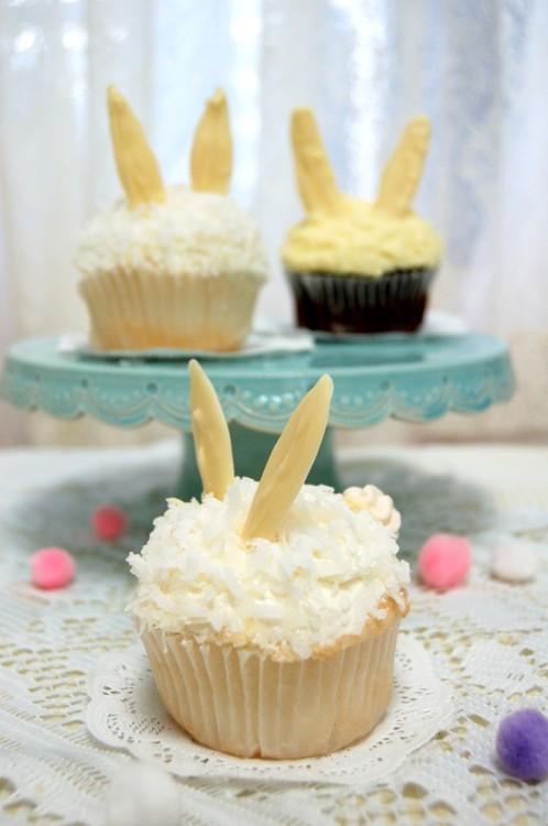 イースターにぴったり!うさぎの形の『バニーカップケーキ』簡単アレンジレシピ<br>|by MAGNOLIA BAKERY