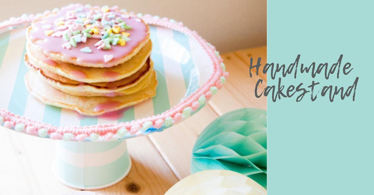 お手軽2ステップ!おうちで簡単手作りケーキスタンドの作り方