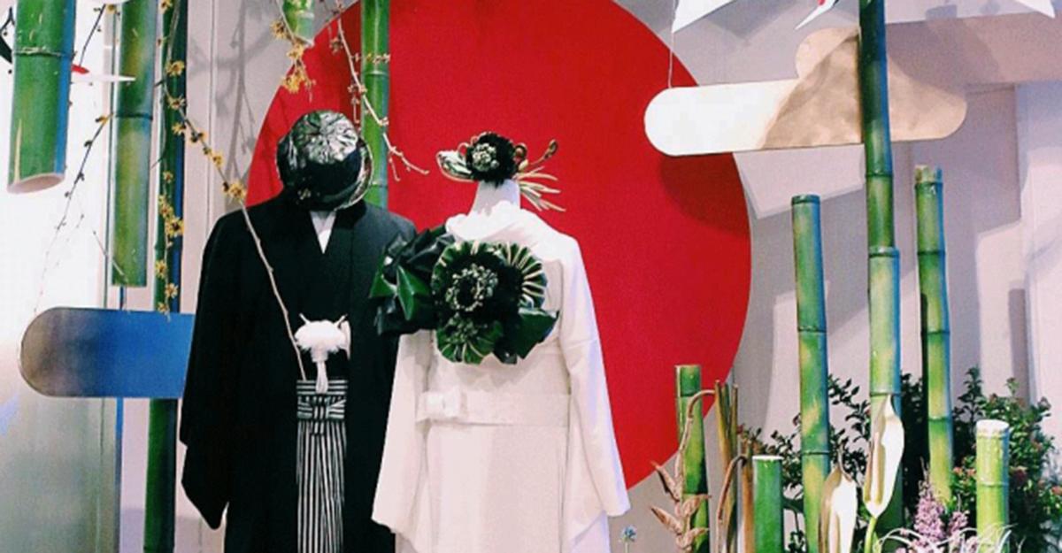 植物で彩る和装・着物ウェディングスタイル