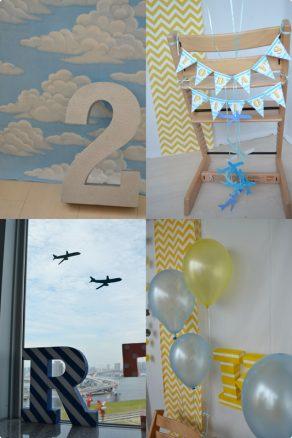 飛行機テーマの誕生日会