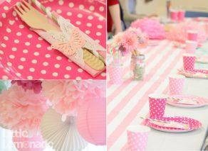 ピンクとミントのおしゃれなベビーシャワー