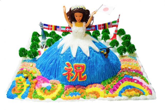 マジックケーキデコの結婚パーティー用バービーケーキの写真