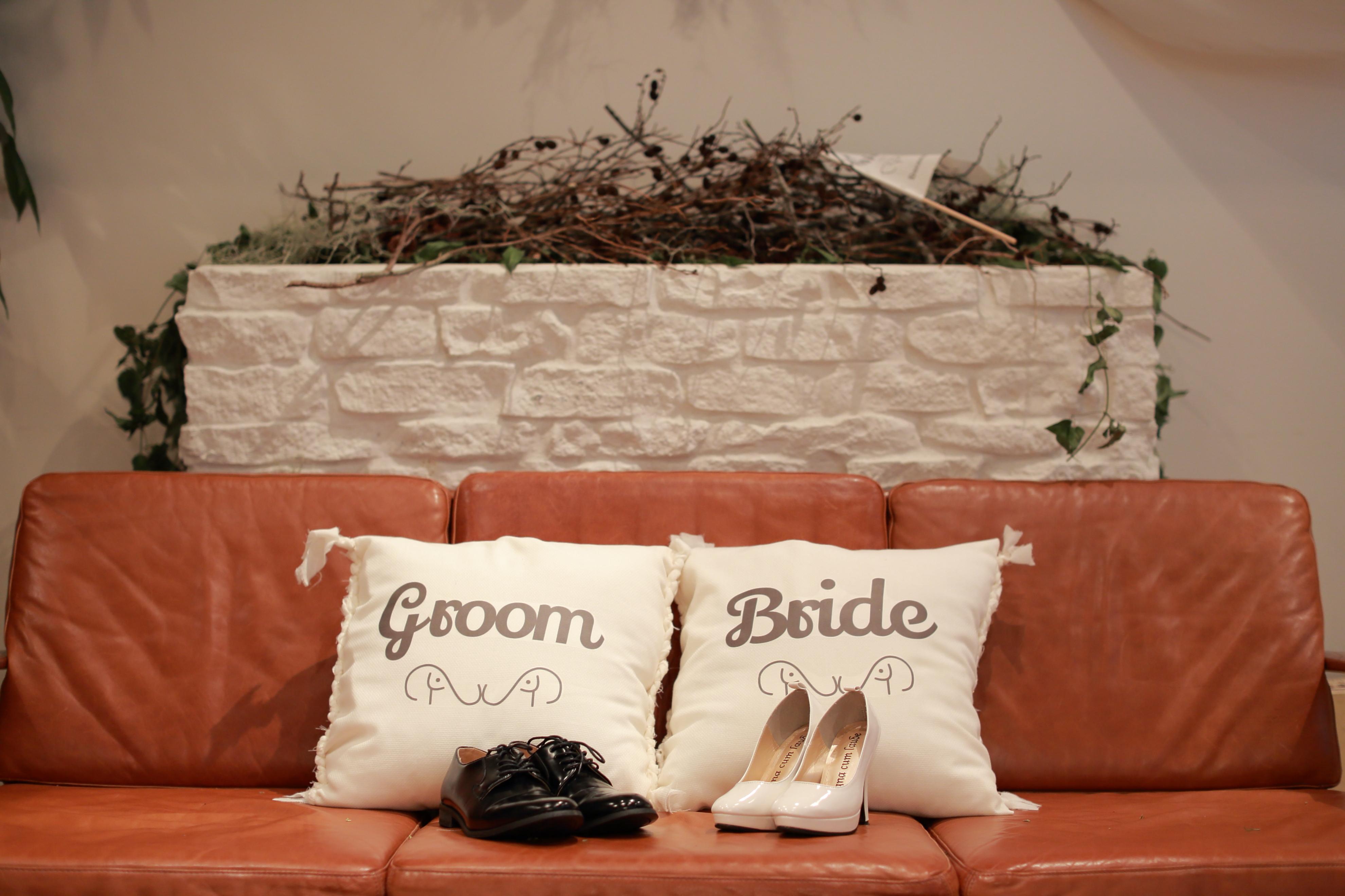 結婚パーティーの高砂ソファの写真