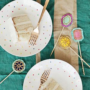 【海外blog】DIYキラキラ・ケーキトッパー<br>|by designlovefest