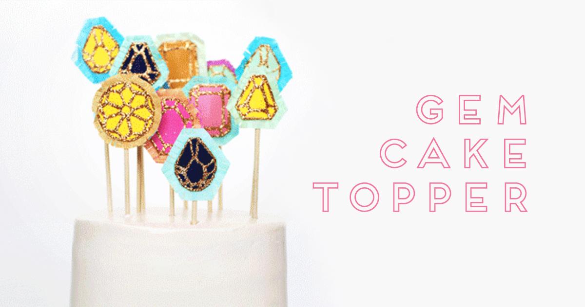 誕生日ケーキに!キラキラ宝石型ケーキトッパーを作ろう