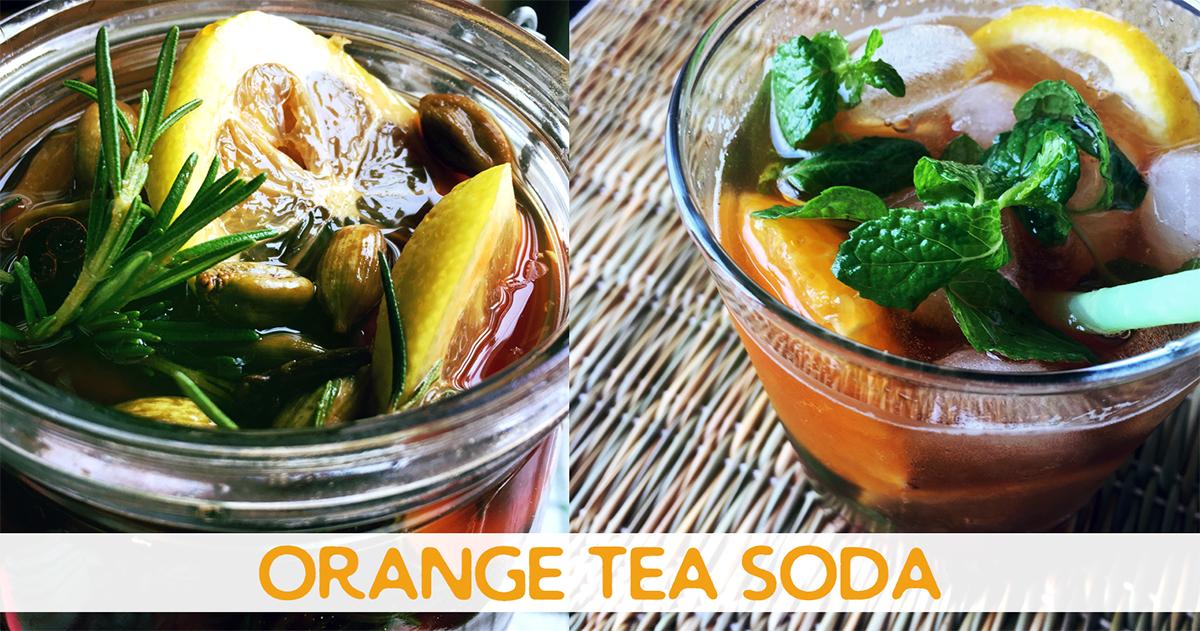 ウェルカムドリンクにも!ハーブとスパイス香るオレンジティーソーダ