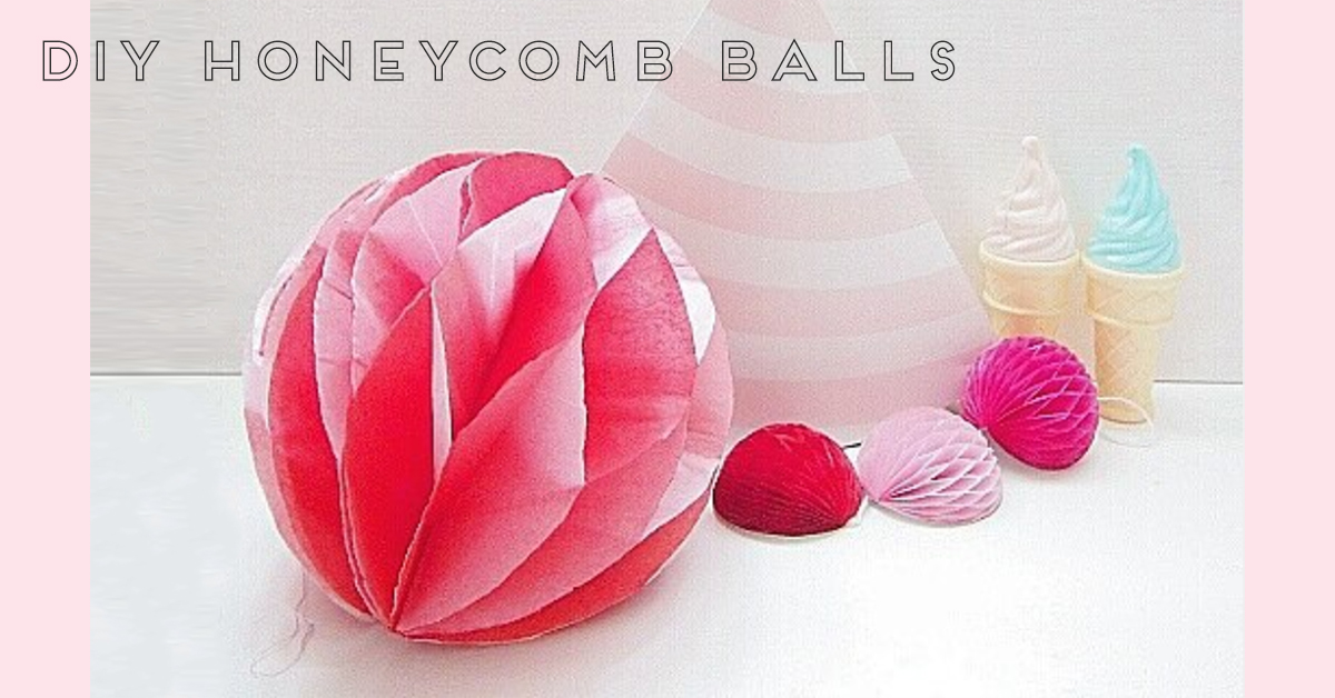 パーティーの飾り付けに!「ハニカムボール」の簡単な作り方