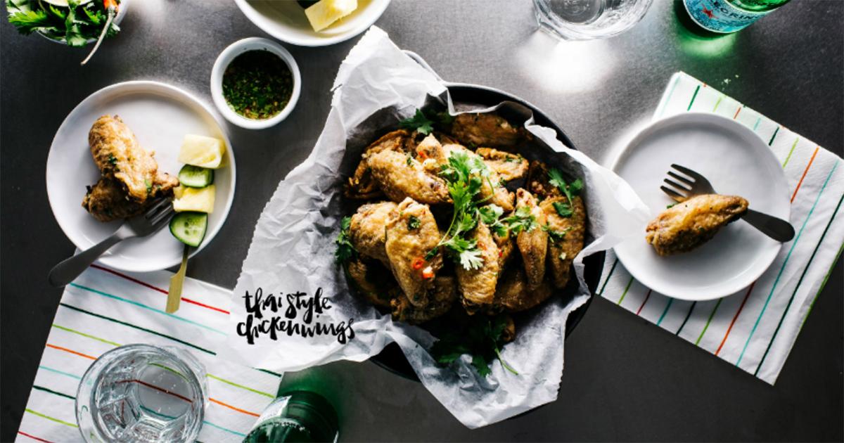 ピリっと甘辛タイ風チキンウィングのオーブン焼きの作り方