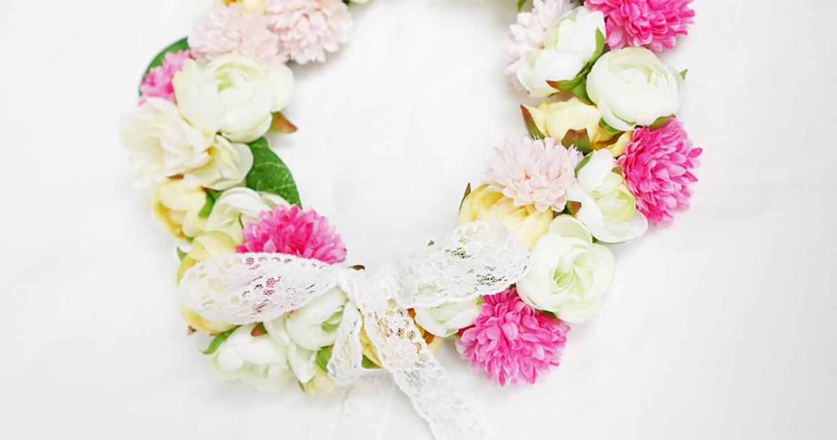 【DIY】結婚パーティー、ベビーシャワーに!自分だけのとっておきの花かんむりでプリンセス気分♪