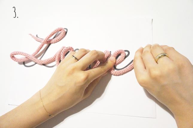 ウールレターの作り方3の写真