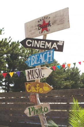 ビンタンパーティーのビーチサイン