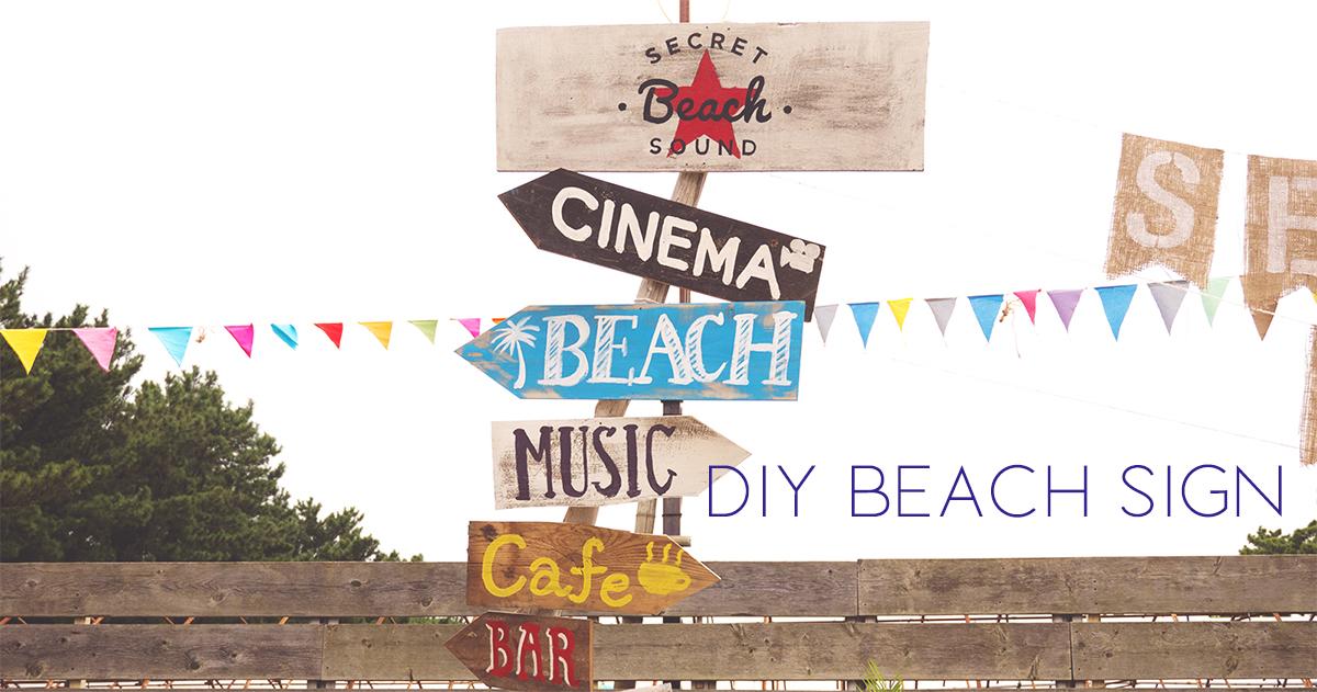 転写シートを使えば簡単!DIYペイントが可愛いビーチサインの作り方