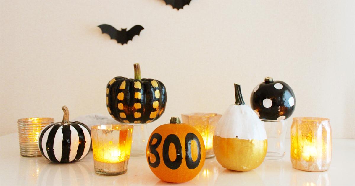 かぼちゃが簡単ペイントで変身!ハロウィンデコパンプキンの作り方