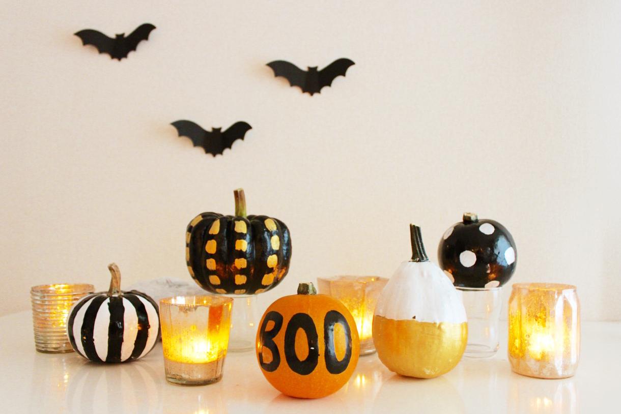 ハロウィン直前!!かぼちゃが簡単ペイントで大変身。あっと驚かれる空間を作っちゃおう。|PARTY DECO by RYOKO Y. /SEEDPOD | ARCH DAYS