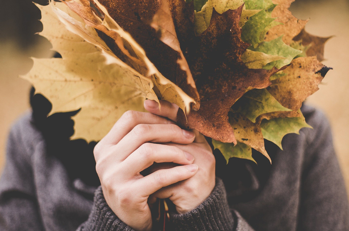 落ち葉でリーフクラウン