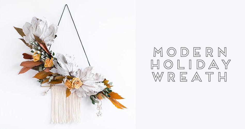 【海外ブログ】クリスマスにぴったり!モダンホリデイリースの作り方