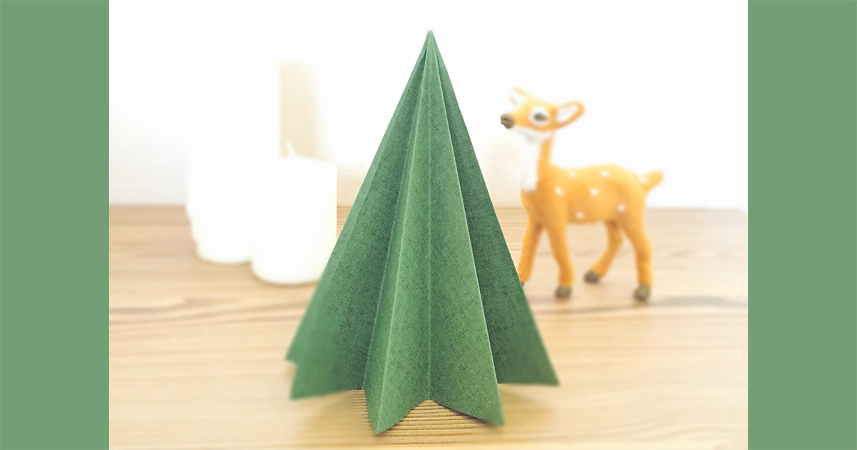 材料は紙だけ!簡単クリスマスツリーの作り方<無料テンプレート付>