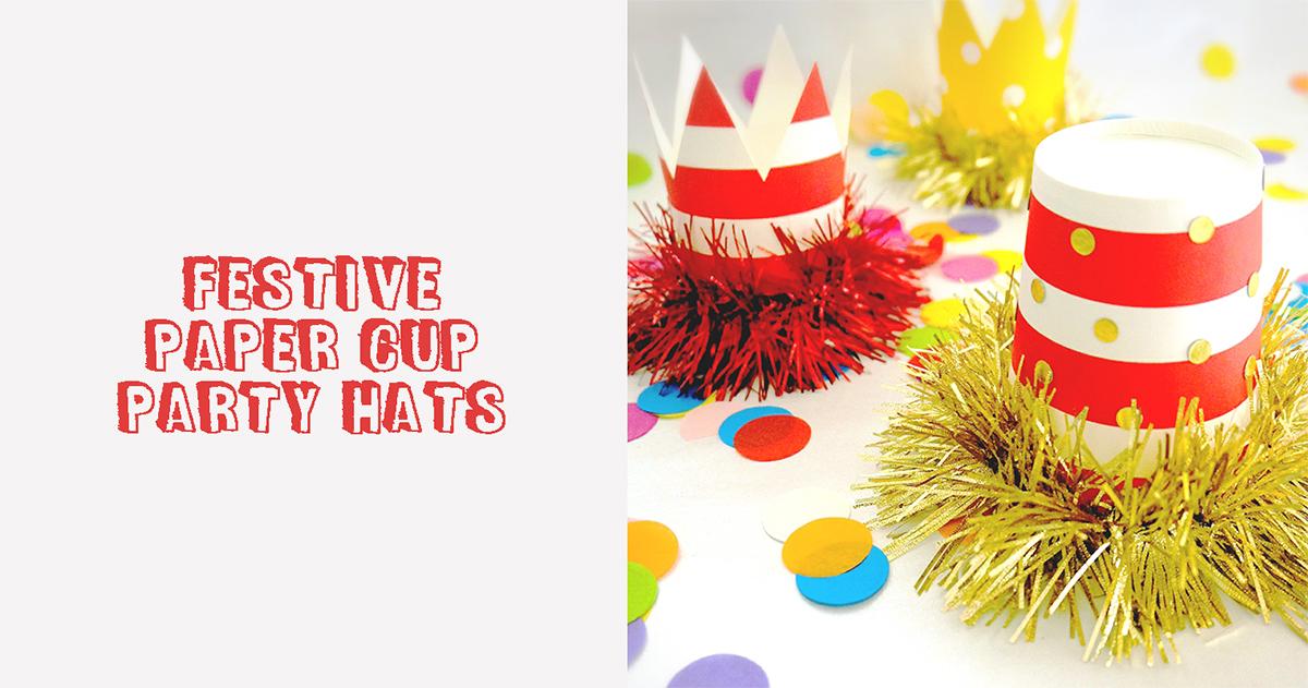 クリスマスパーティーやバースデーに!紙コップで作る、簡単パーティーハットの作り方