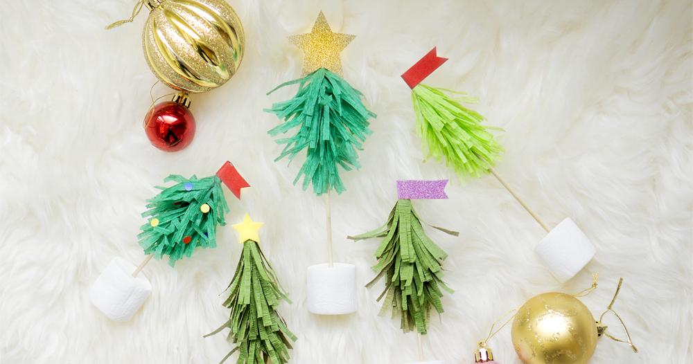 食卓にもクリスマスを♪簡単ツリー型フードピックの作り方