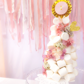 1st VALENTINE'S DAY|マシュマロタワー|ファーストバースデー事例|Party for you|ARCH DAYS