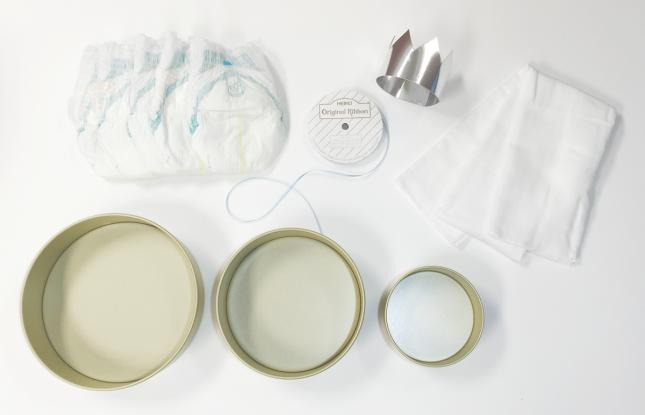 おむつケーキの材料|ベビーシャワー|ARCHDAYS