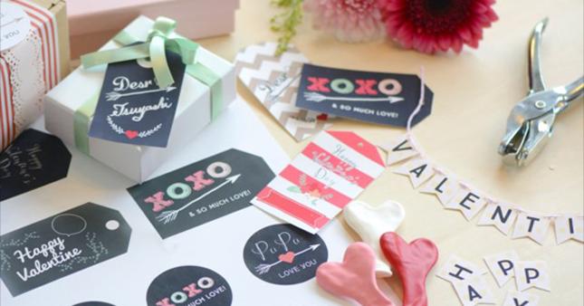 バレンタインのプレゼントに♪DIYラッピングに使えるギフトタグを無料配布