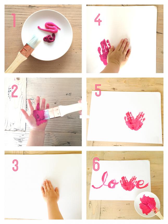 バレンタインの手形アートの作り方|ARCHDAYS