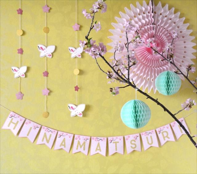 ひな祭り用吊るし飾りとレターバナーをフリーダウンロード!|by Little Lemonade | ARCH DAYS
