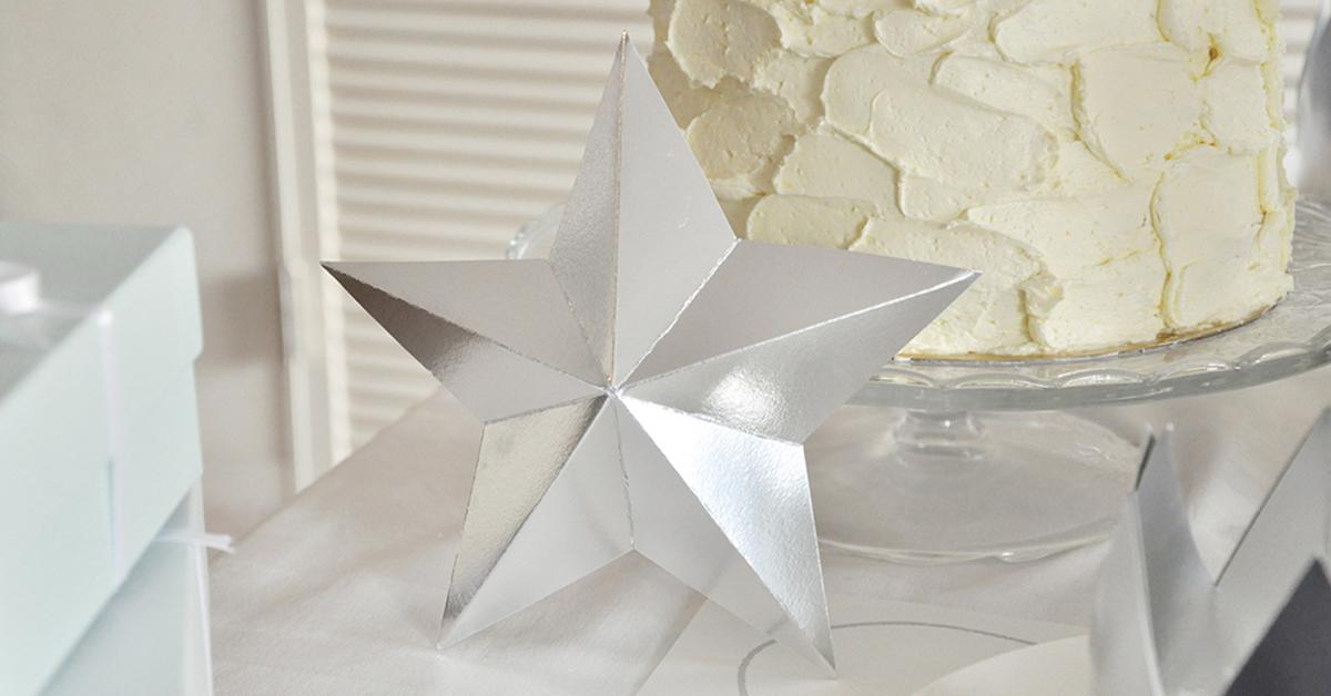 とっても簡単なのに高級感!「バーンスター」の作り方&型紙無料配布♪<br>|DIY BABY SHOWER by ARCH DAYS編集部