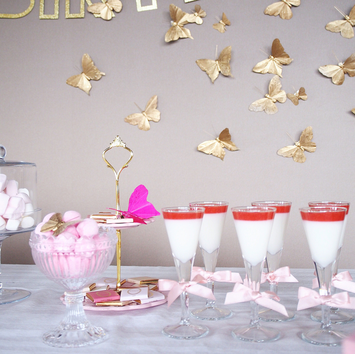 BUTTERFLIES IN PINK|スイーツ装飾|バースデー事例|Tokyo Flamingo|ARCH DAYS