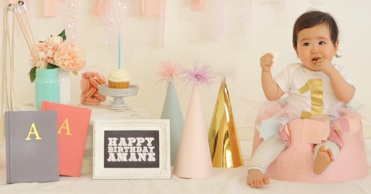 1歳誕生日の記念に!オリジナルデザインロンパースを作ってお祝い♪