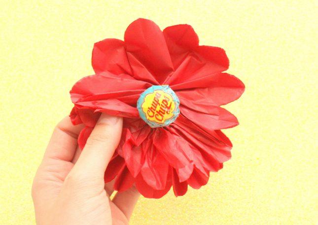 5.お花を広げる