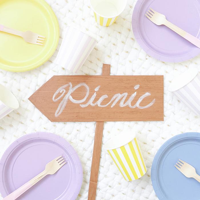 プチプラで軽量!ピクニック用ウッドサインの作り方<br />|En effet on fête! by mon_petit_lion