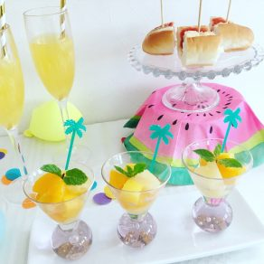 TROPICAL SUMMER PARTY|ホームパーティー事例|フラミンゴ|サマーパーティー|glitter party styling|ARCH DAYS
