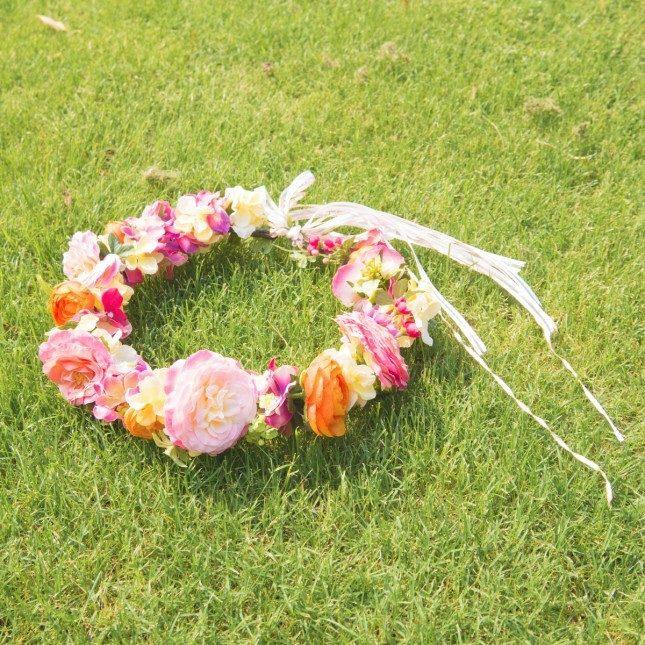 造花で作るエターナルフラワークラウン【Day2】
