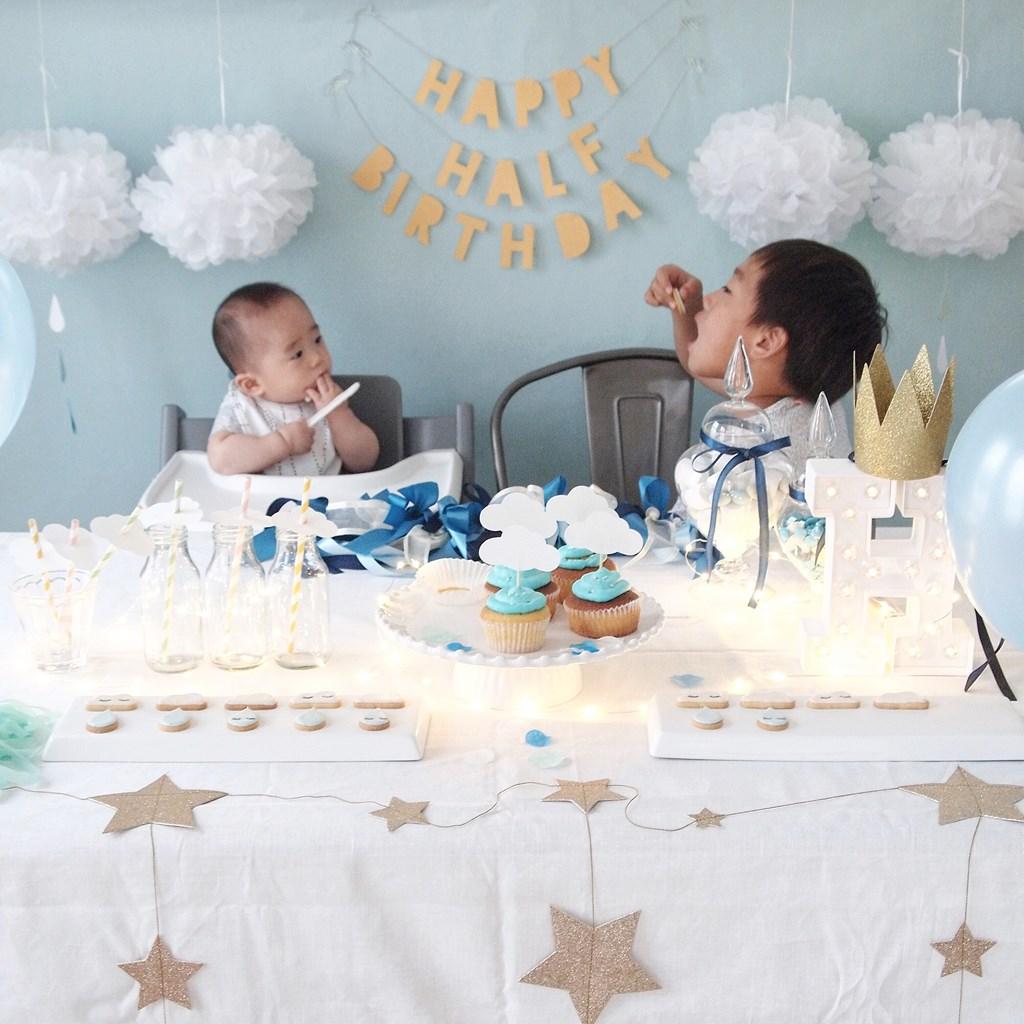 BIRTHDAY SHOWER|ハーフバースデーパーティー事例|誕生日|half birthday|ARCH DAYS