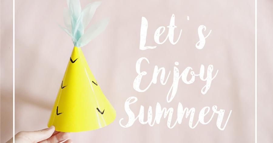 【型紙ダウンロード付き】パイナップルのパーティーハットで楽しい夏の思い出を♪