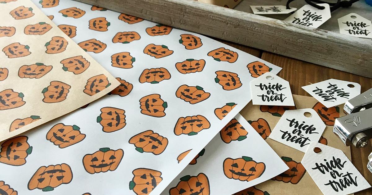 ハロウィンのお菓子のラッピングに♪かぼちゃ柄シートを無料ダウンロードプレゼント!</br>| by TAM'S WORKS
