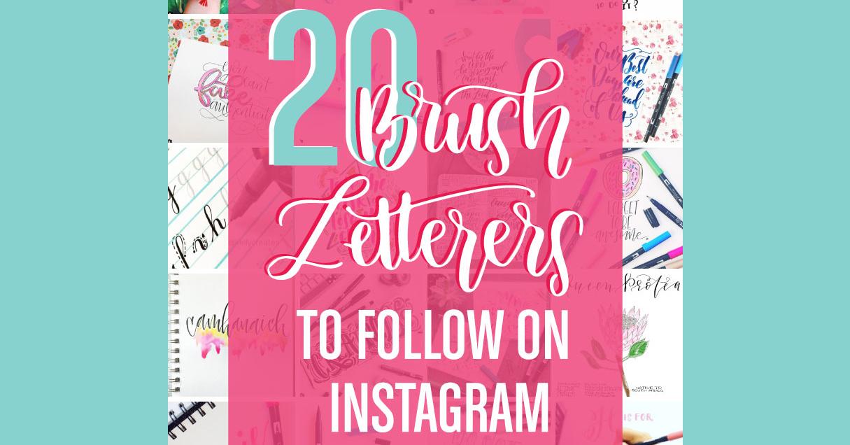 Instagramでフォローすべきブラシレタリング・アーティスト20選