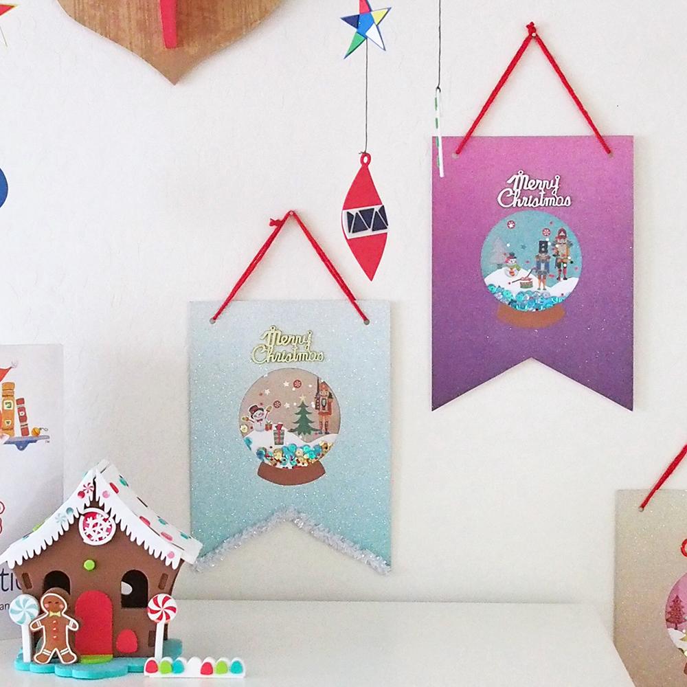 【使えるテンプレート付き】スノードームモチーフのDIYクリスマスタペストリー<br>|by KEIKO KASAI