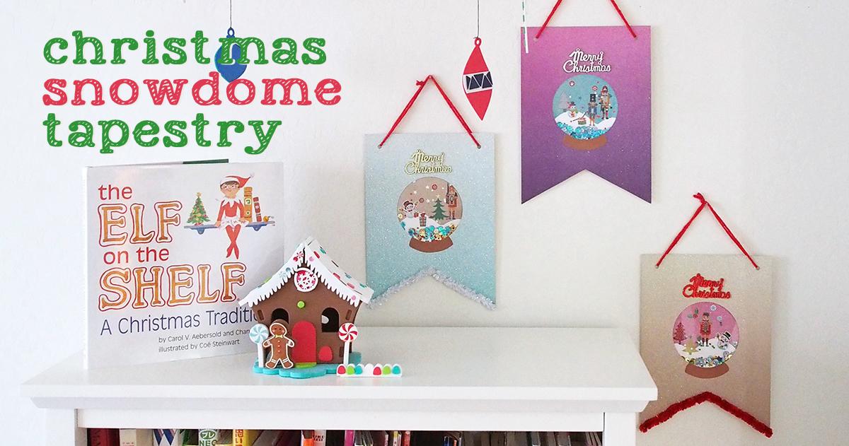 【使えるテンプレート付】スノードームモチーフのDIYクリスマスタペストリー