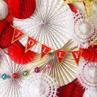 【ガーランドデザイン配布付き】プチプラで作れるホワイトxゴールドのペーパーファン<br>|by PARTY KIDS&#038;Nursery