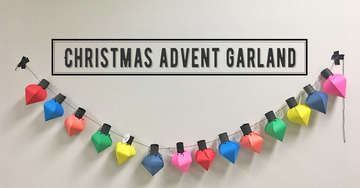 【無料テンプレート】クリスマスまでのカウントダウン♪飾って可愛いアドベントガーランド