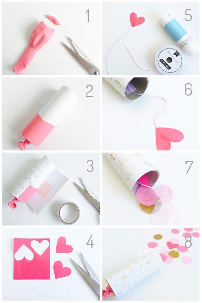 バレンタインに可愛いコンフェッティポッパーをDIY|作り方|ARCHDAYS