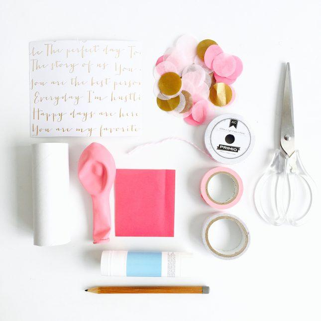 バレンタインに可愛いコンフェッティポッパーをDIY|材料|ARCHDAYS