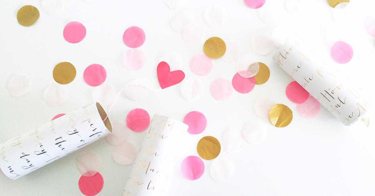 バレンタインに可愛い♡コンフェッティクラッカーをDIY<br>|En effet on fête! by mon_petit_lion