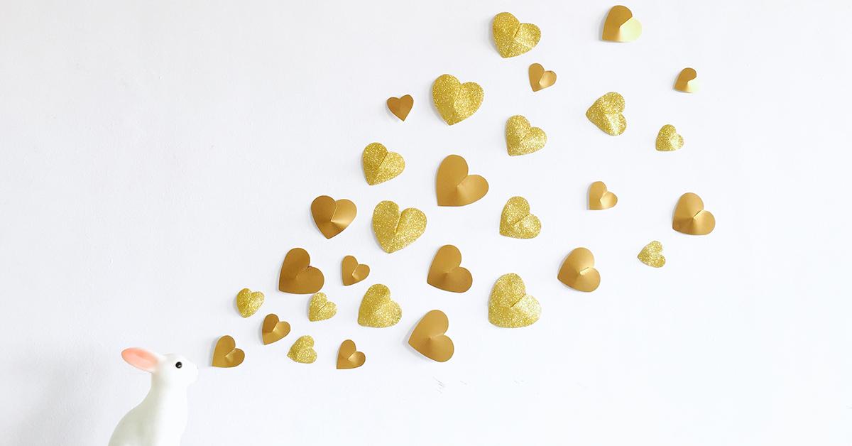 立体ハートで広がる!簡単バレンタインデコレーション
