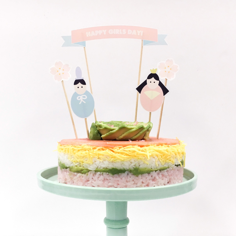 ひな祭り ちらし寿司ケーキ 作り方 無料